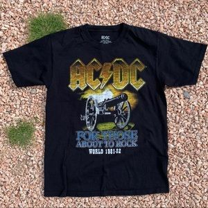 Authentic ACDC World Tour Band T-Shirt 1981-82